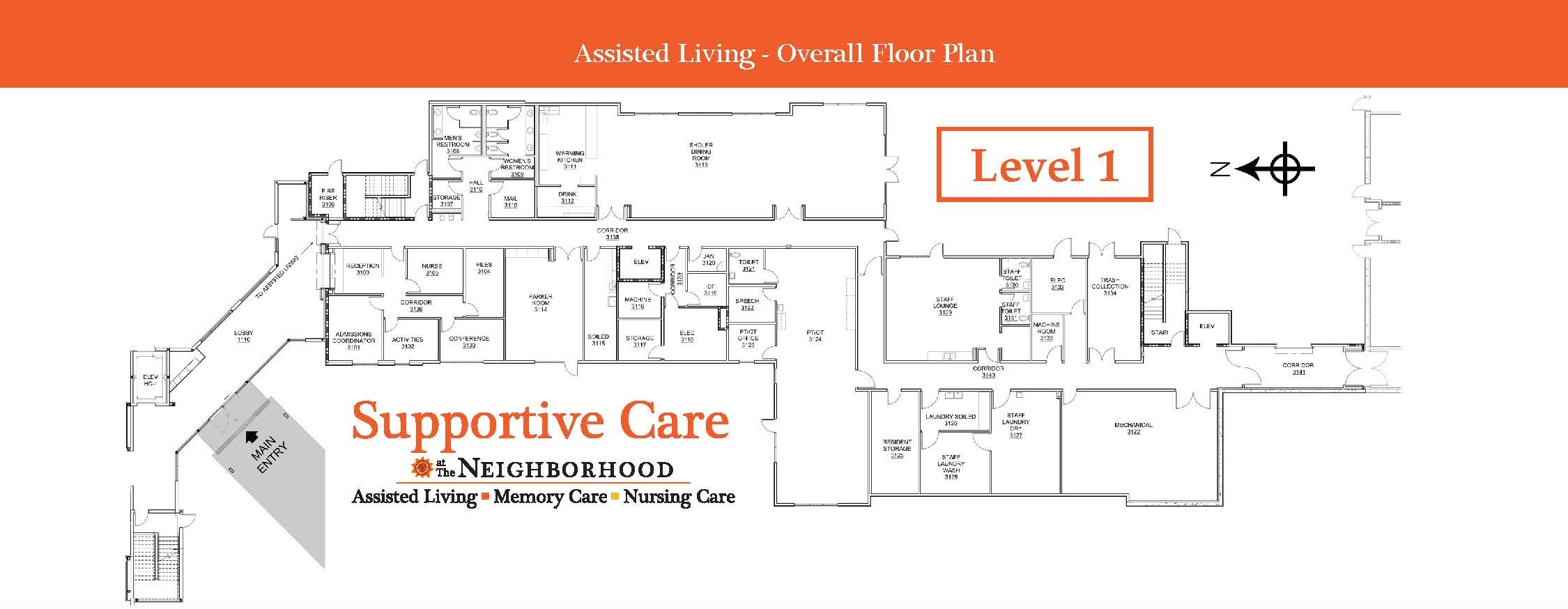Assisted Living Level 1 Map
