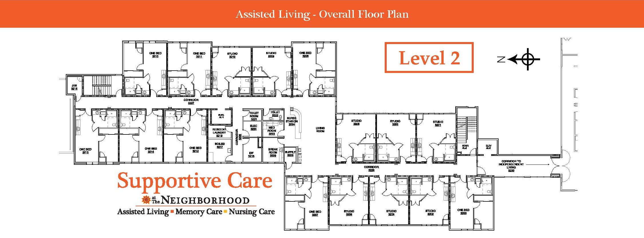 Assisted Living Level 2 Map