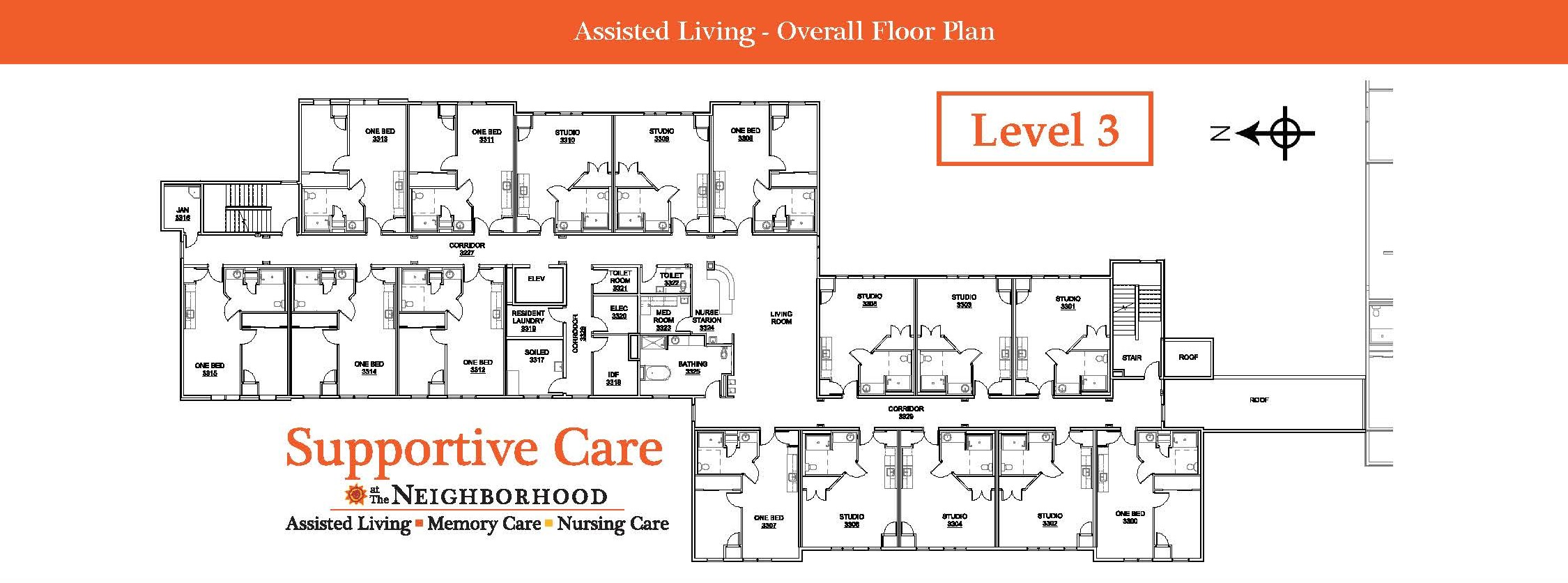 Assisted Living Level 3 Map