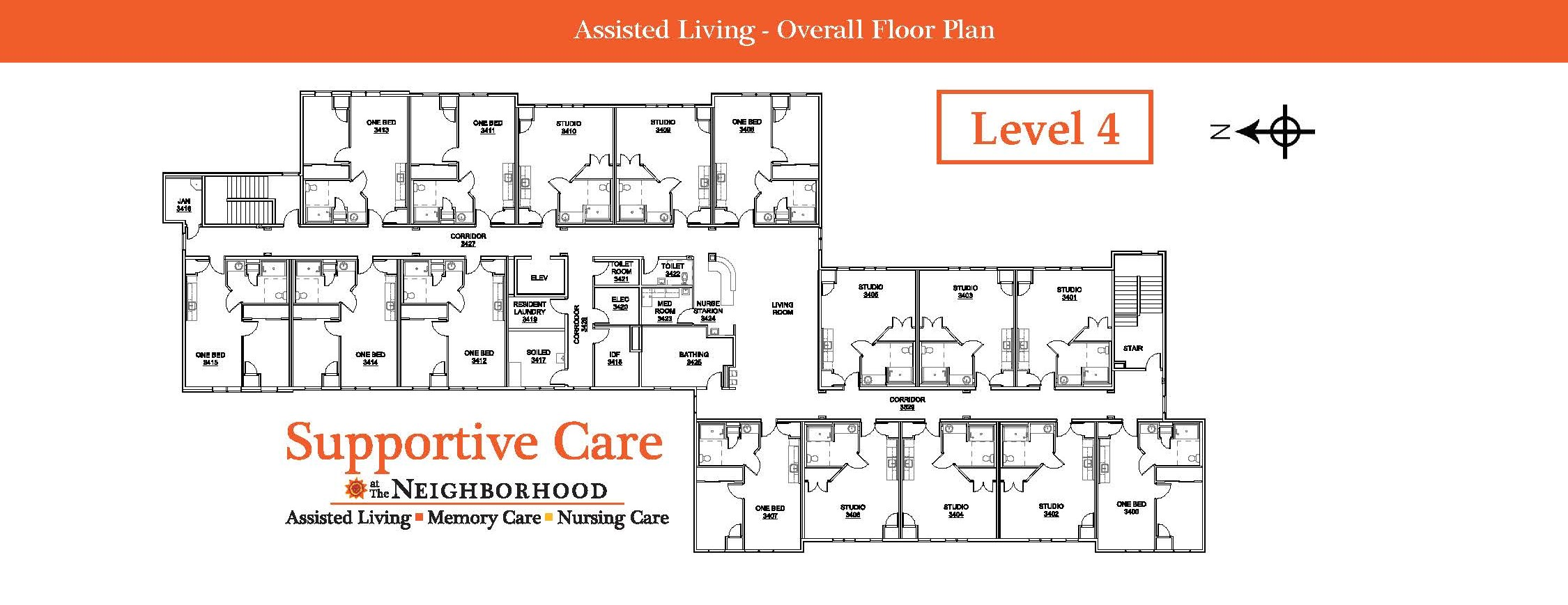 Assisted Living Level 4 Map