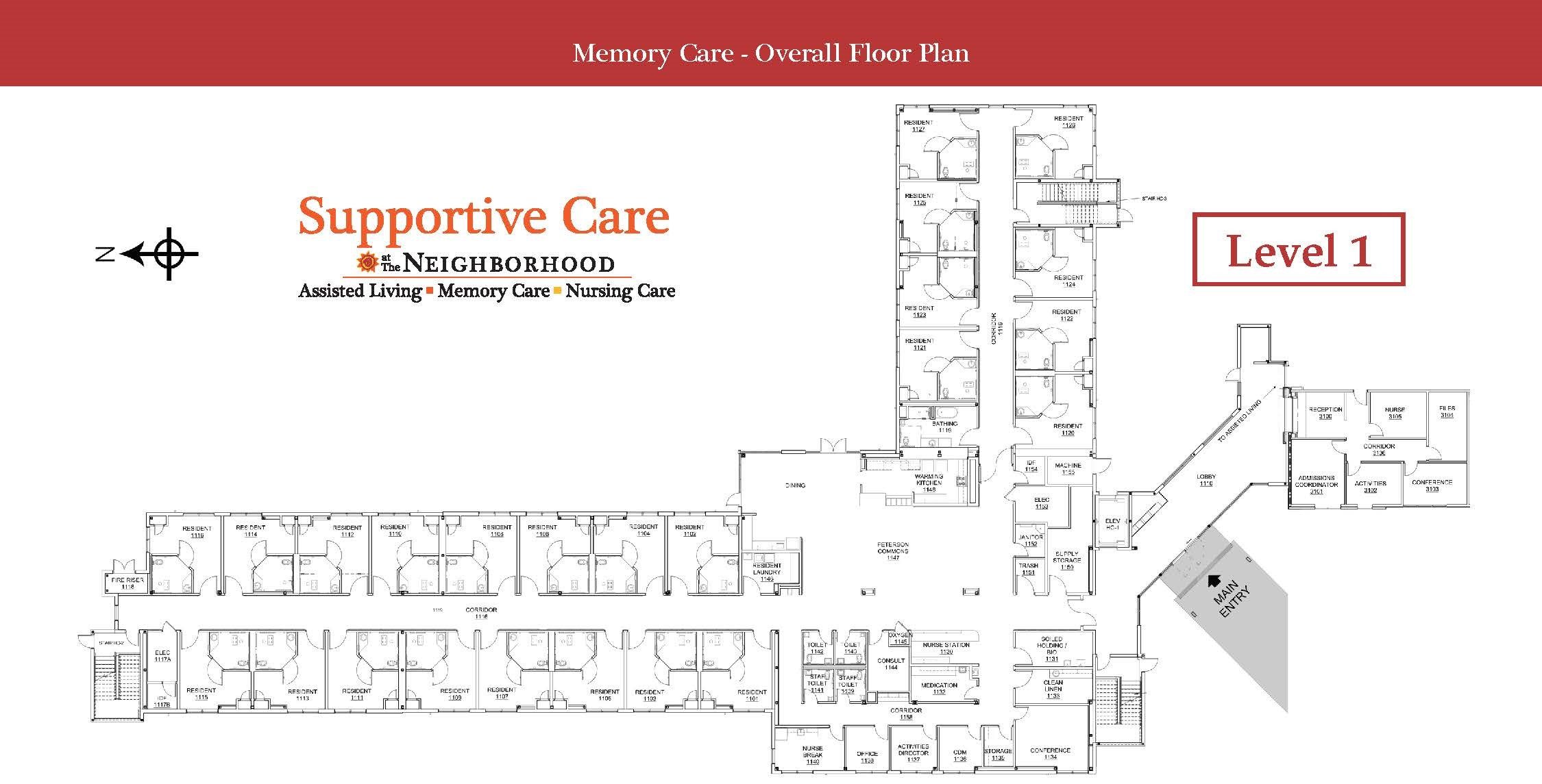 Memory Care Level 1 Map