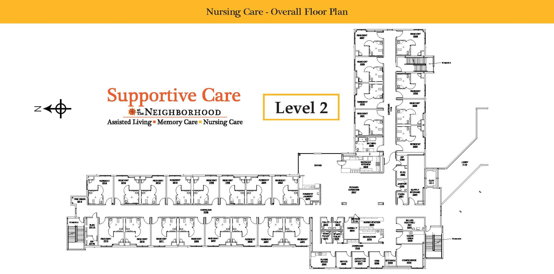 Nursing Care Level 2 Map