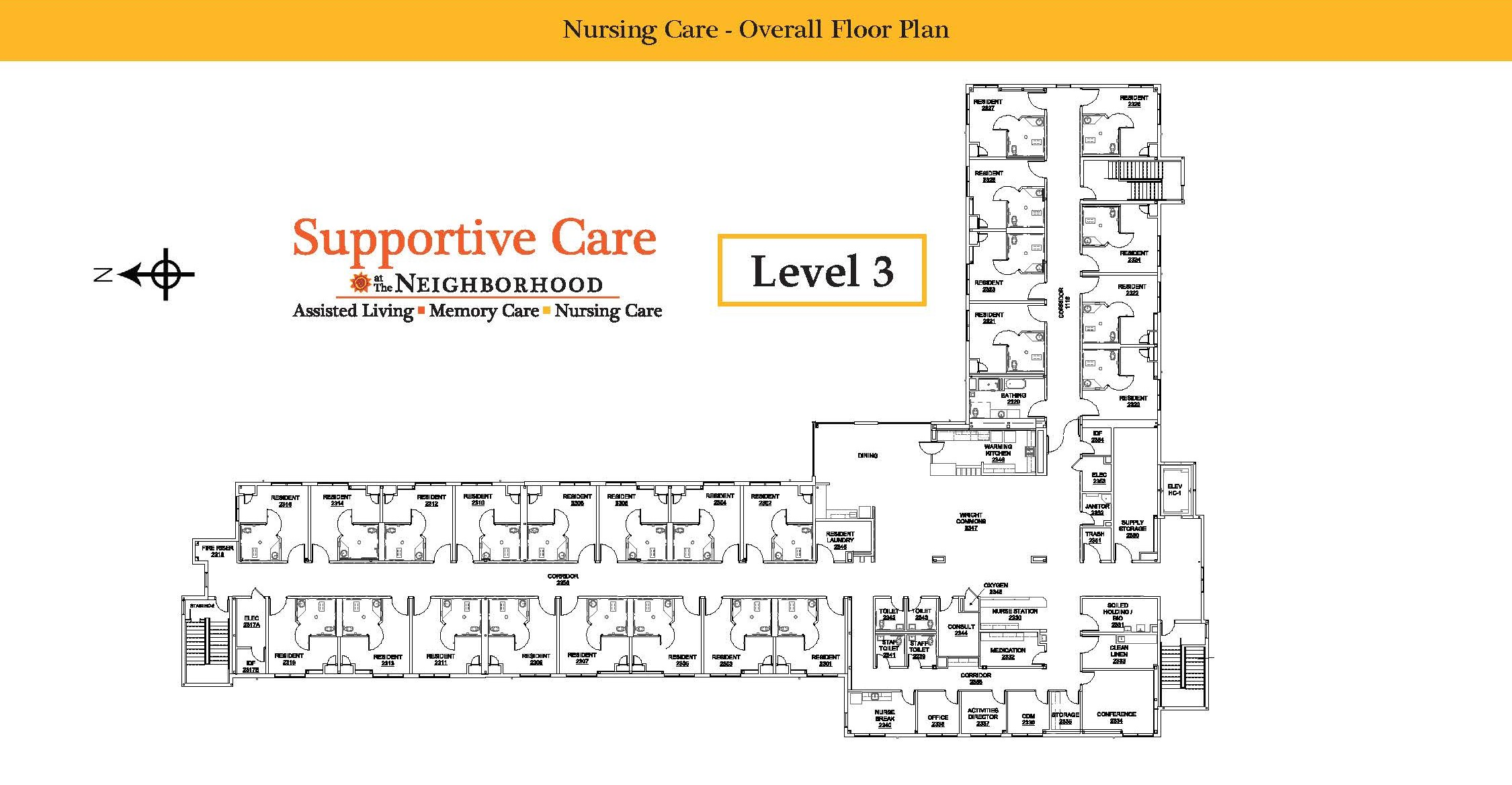 Nursing Care Level 3 Map