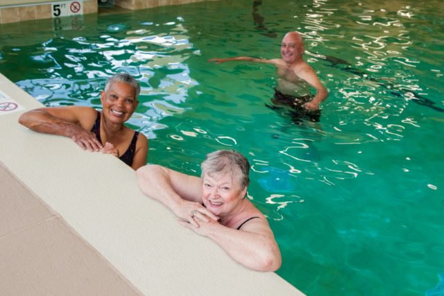 Residents Swimming in the Pool