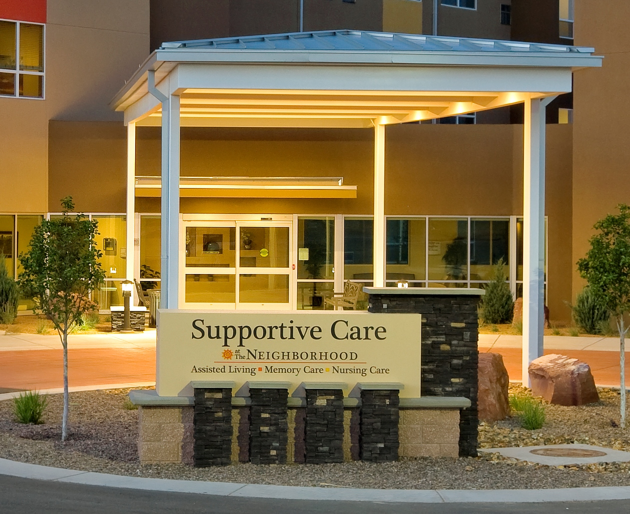 Supportive Care Sign at Entrance
