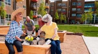 Gardening Together with Other Residents